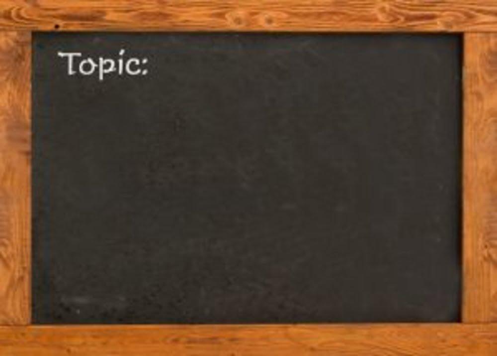 Word topic on a blackboard