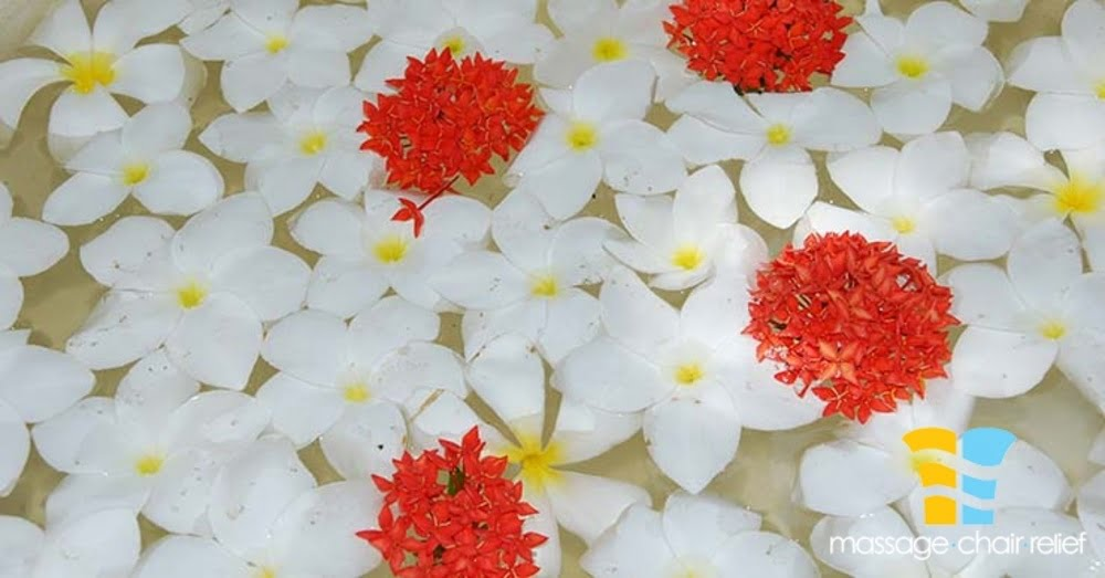 beautiful background made of white/yellow/red frangipanis flowers