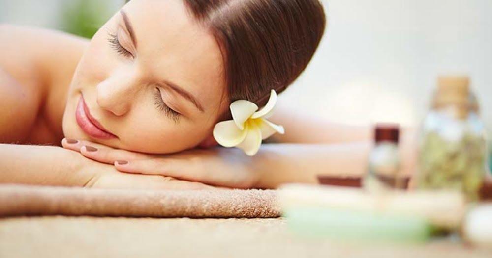 woman sleeping in a spa