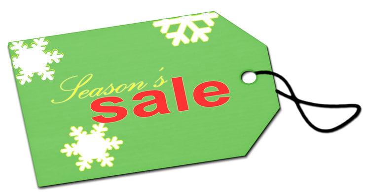 Season's sale tag