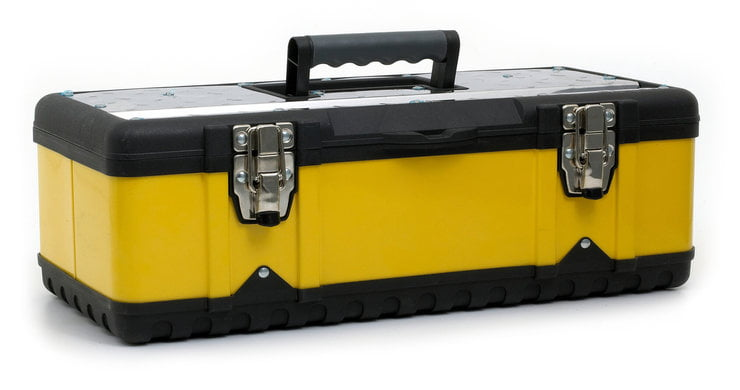 yellow and black toolbox